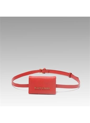 Black Ribbon Ribbon 16X20 Cm Zincirli 6 Adet Kart Gözü Mini Kartlık Kırmızı